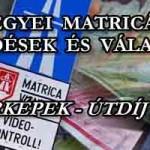 MEGYEI MATRICÁK - KÉRDÉSEK ÉS VÁLASZOK, TÉRKÉPEK. ÚTDÍJ 2015.