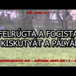 FELRÚGTA A FOCISTA A KISKUTYÁT A PÁLYÁN! – VIDEÓ