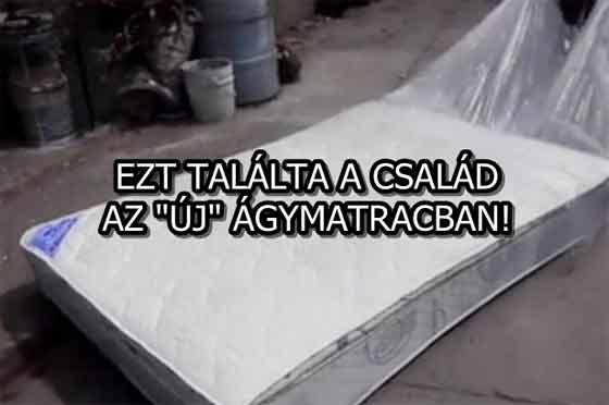 """EZT TALÁLTA A CSALÁD AZ """"ÚJ"""" ÁGYMATRACBAN!"""