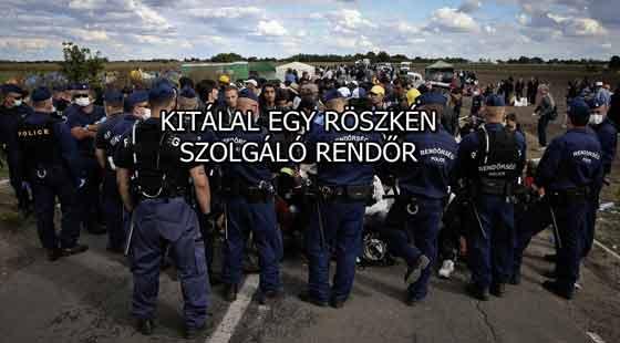 KITÁLAL EGY RÖSZKÉN SZOLGÁLÓ RENDŐR