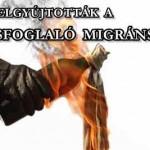 MOLOTOV-KOKTÉLLAL GYÚJTOTTÁK FEL A LAKÁSFOGLALÓ MIGRÁNSOKAT.