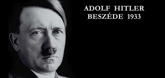 ADOLF HITLER BESZÉDE 1933.