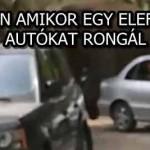 ILYEN AMIKOR EGY ELEFÁNT AUTÓKAT RONGÁL