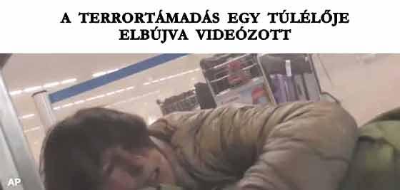 A TERRORTÁMADÁS EGY TÚLÉLŐJE ELBÚJVA VIDEÓZOTT.