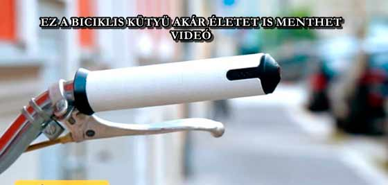 EZ A BICIKLIS KÜTYÜ AKÁR ÉLETET IS MENTHET - VIDEÓ