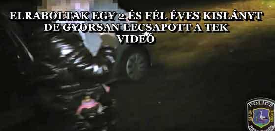 ELRABOLTAK EGY 2 ÉS FÉL ÉVES KISLÁNYT, DE GYORSAN LECSAPOTT A TEK - VIDEÓ