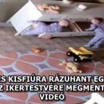 EGY KÉT ÉVES KISFIÚRA RÁZUHANT EGY SZEKRÉNY, DE AZ IKERTESTVÉRE MEGMENTETTE – VIDEÓ