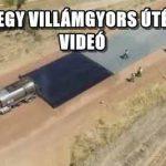 ILYEN EGY VILLÁMGYORS ÚTÉPÍTÉS – VIDEÓ
