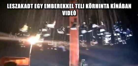 LESZAKADT EGY EMBEREKKEL TELI KÖRHINTA KÍNÁBAN - VIDEÓ
