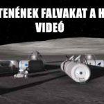 ÍGY ÉPÍTENÉNEK FALVAKAT A HOLDRA – VIDEÓ